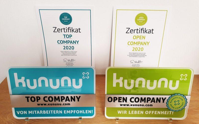 eMagnetix wurde von kununu als Top Company & Open Company ausgezeichnet
